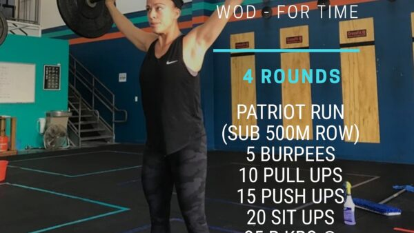 Thurs. 01/14/20 Wod – For Time 4 Rounds Patriot Run (Sub 500m Row) 5…